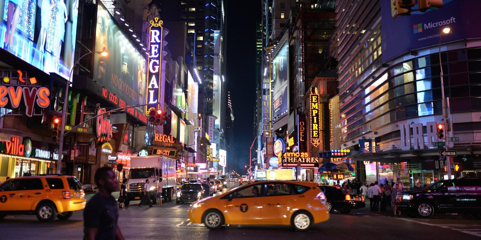 Taxi new york à Times Square