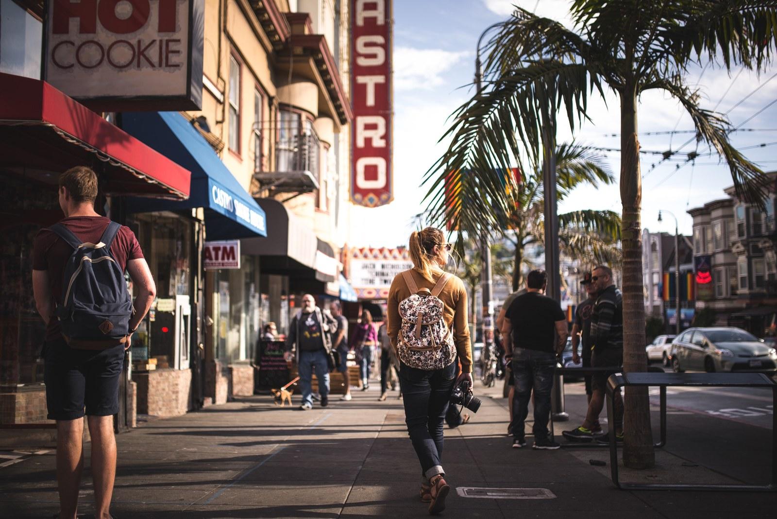 Dans les rues de Castro, quartier gay de SF