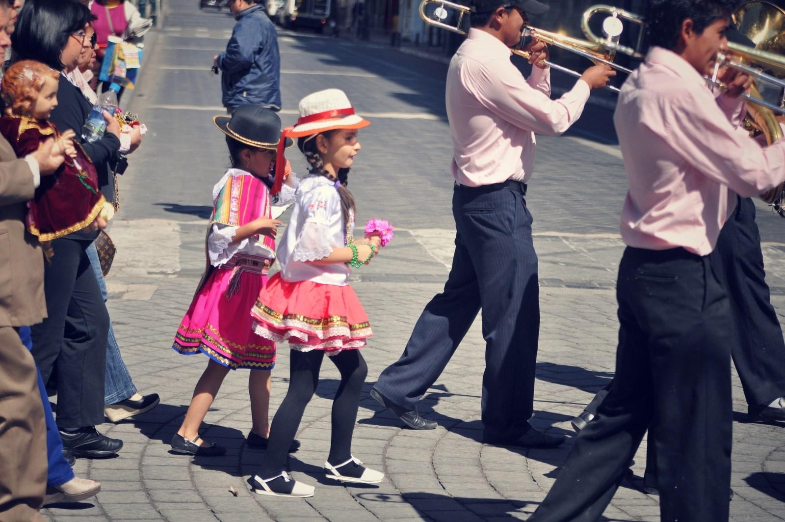 Costumes du carnaval de Riobamba Riobamba