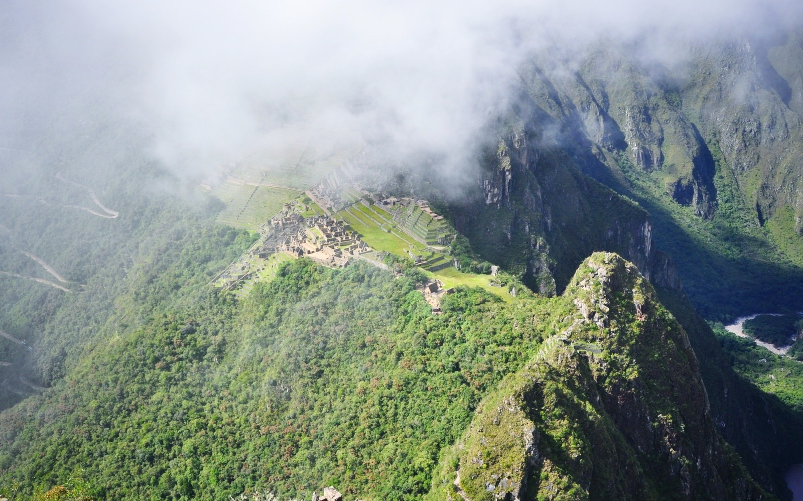 Vue à partir de Wayna Picchu Huayna Picchu