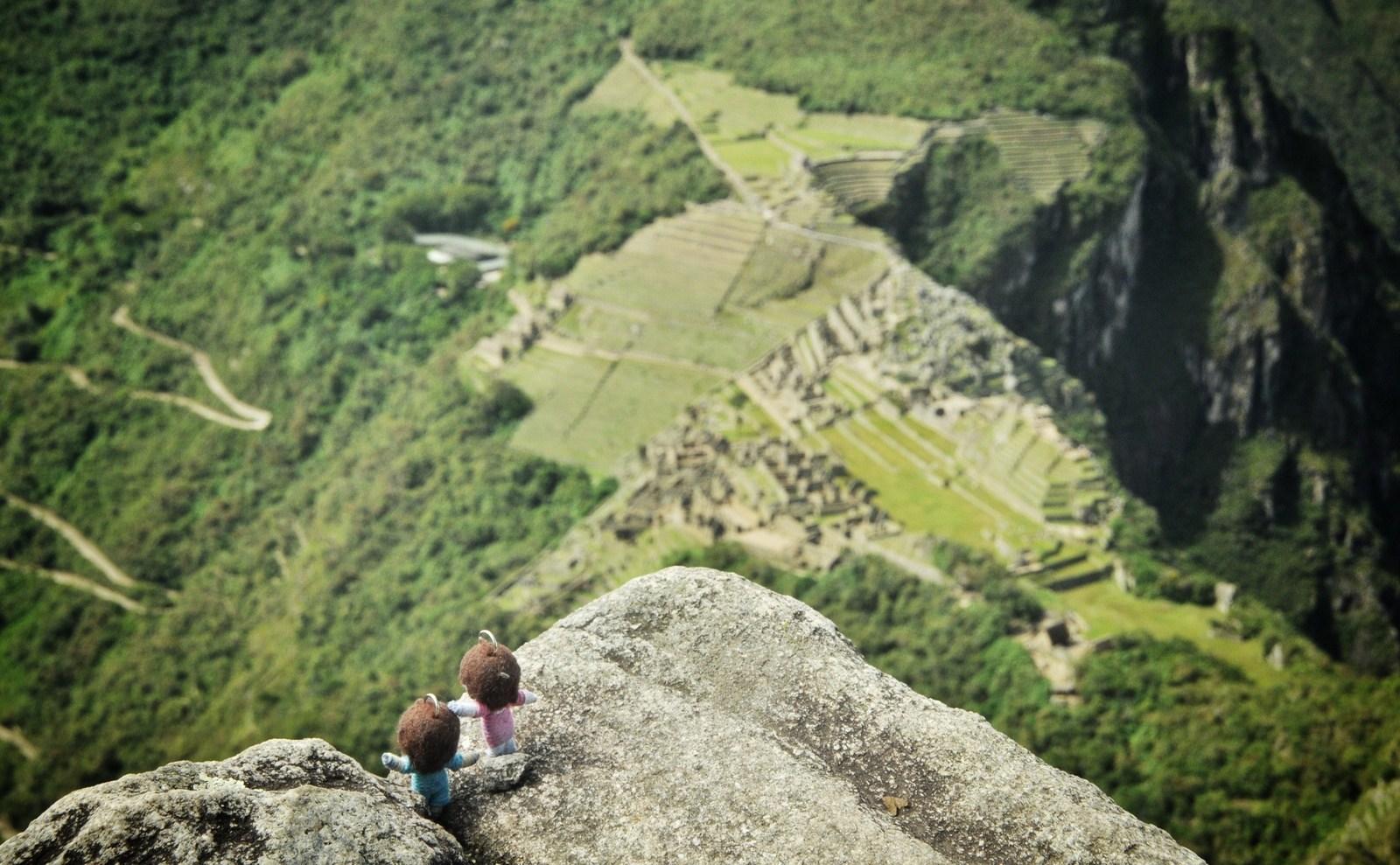 Us, over the inca world Machu Picchu