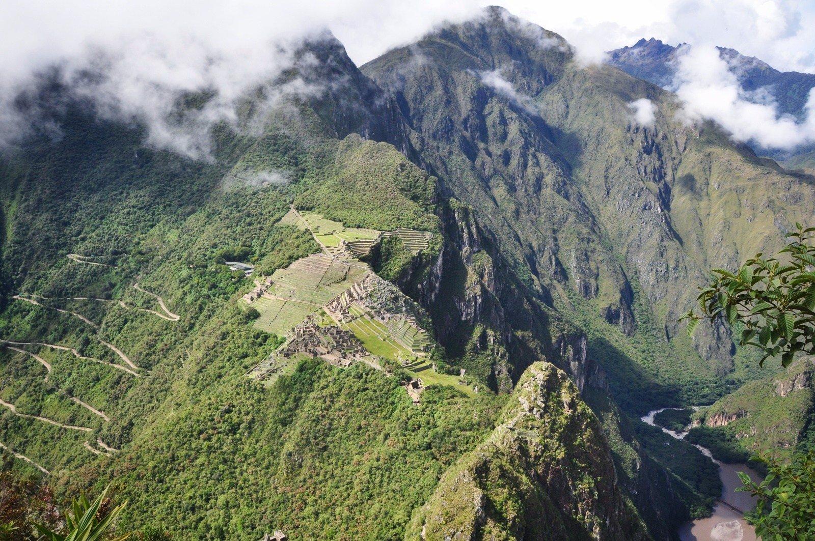 Vue sur les ruines depuis Wayna Picchu Huayna Picchu