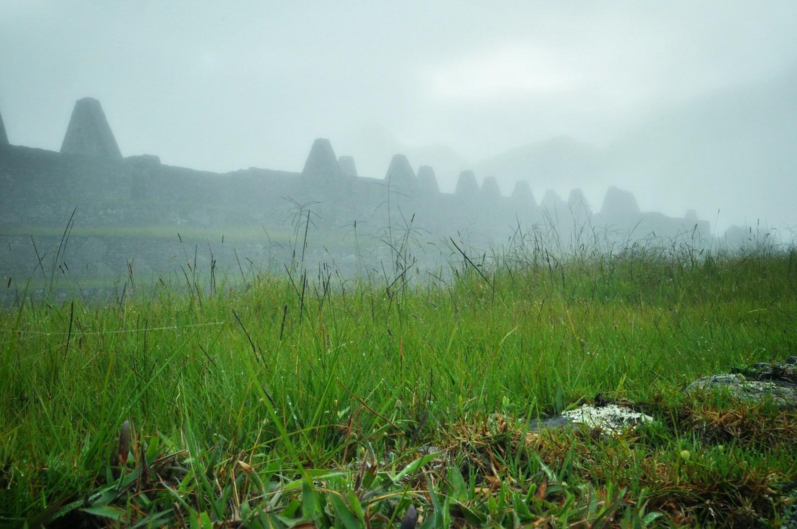 Brouillard sur les ruines du Machu Picchu Machu Picchu