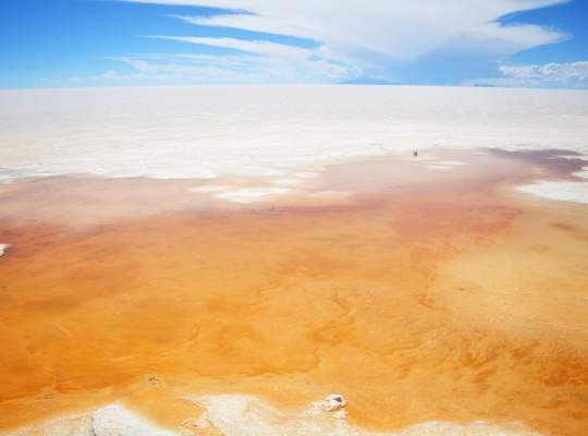 Source, salar d'uyuni