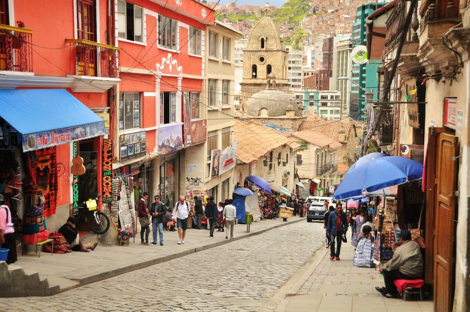 Rue de La Paz, Bolivie La Paz
