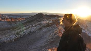 Coucher de soleil sur la vallee de la mort