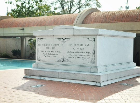 Tombe de Martin Luther King à Atlanta