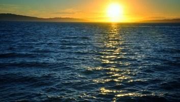 Coucher de soleil sur chiloe