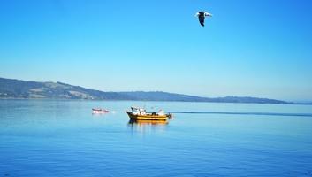 Vue de la mer depuis ancud chiloe