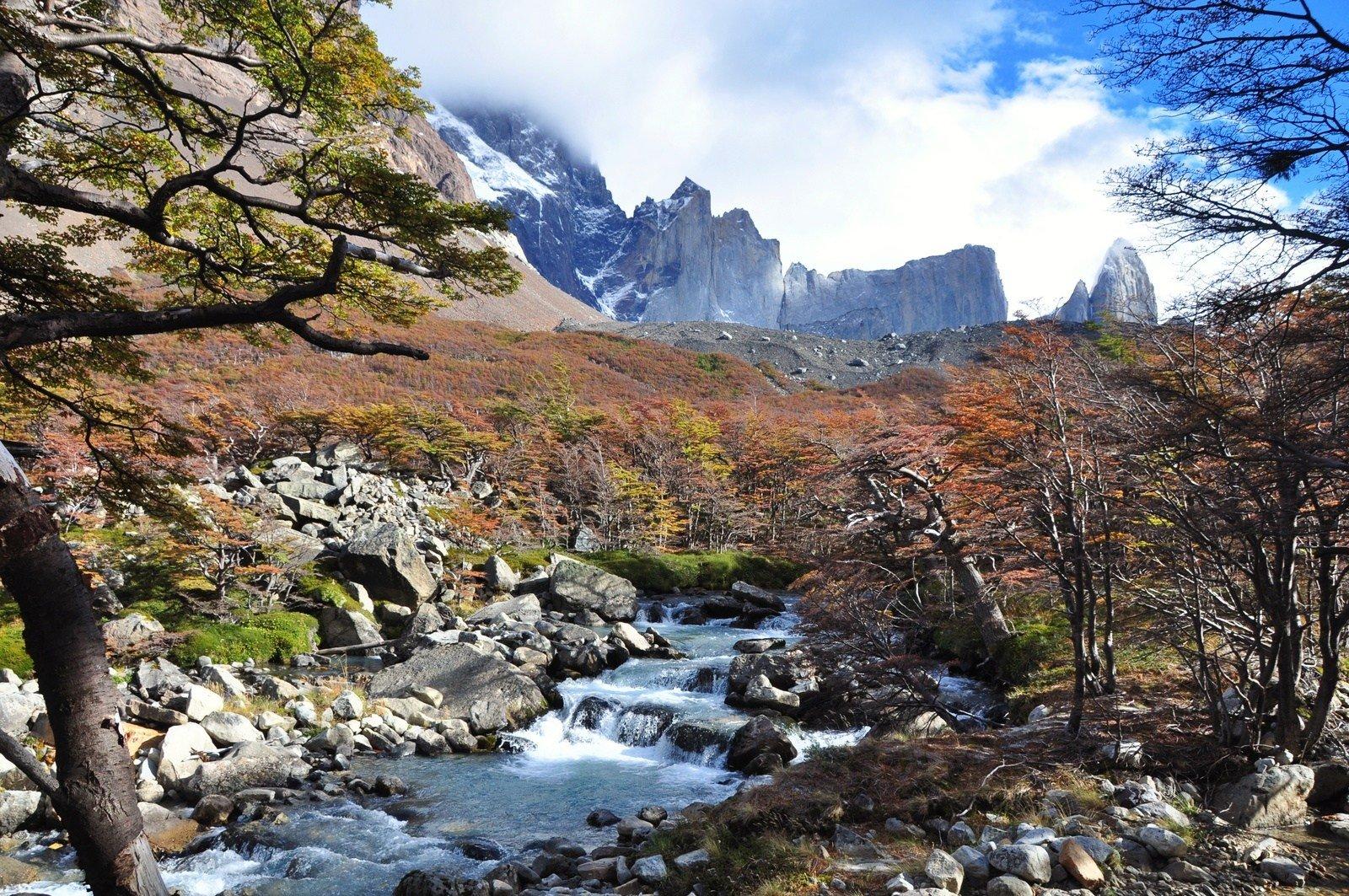 Rivière, Torres del Paine Torres del Paine
