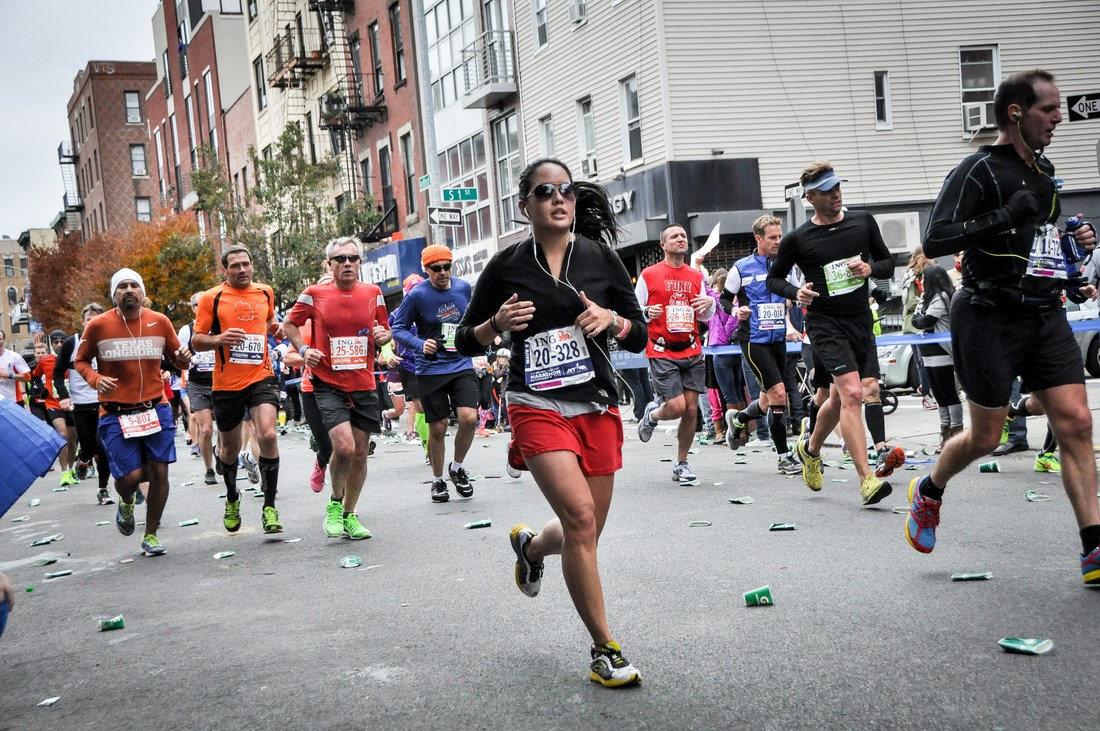 Coureurs du marathon de New York