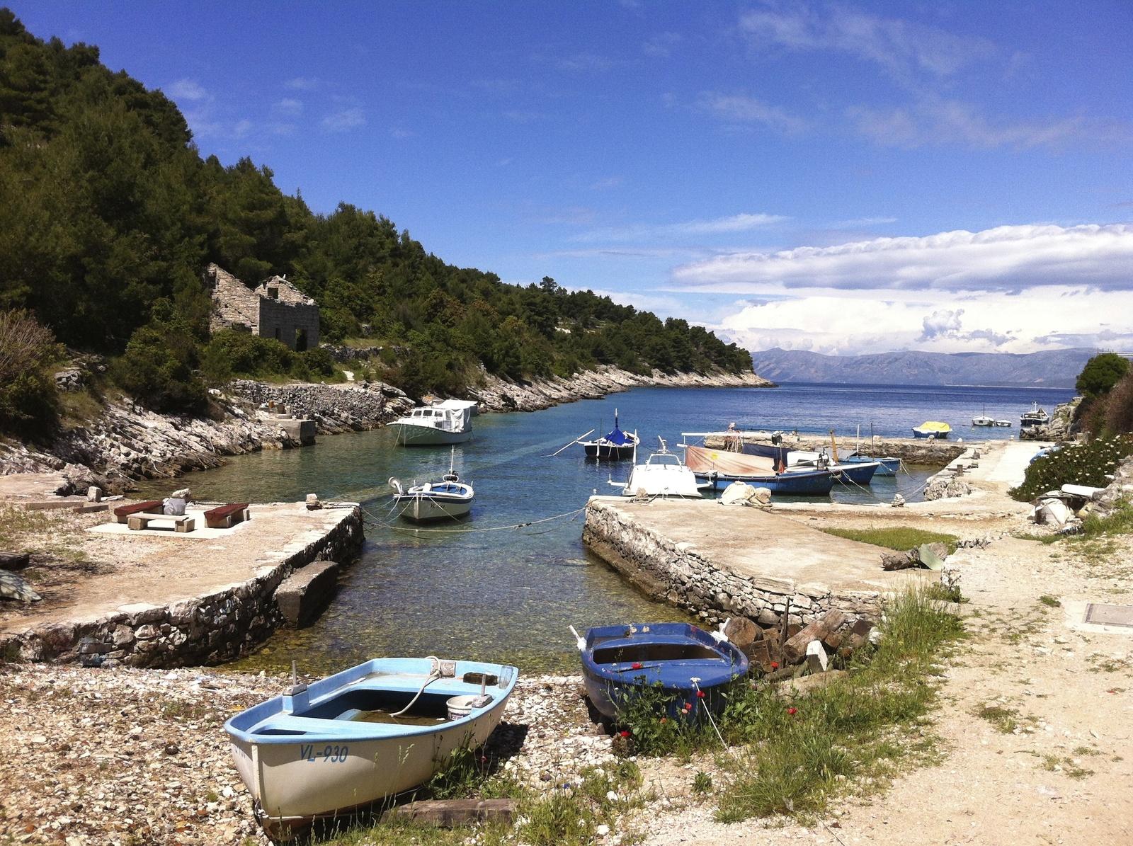 Petit port de Croatie Korčula