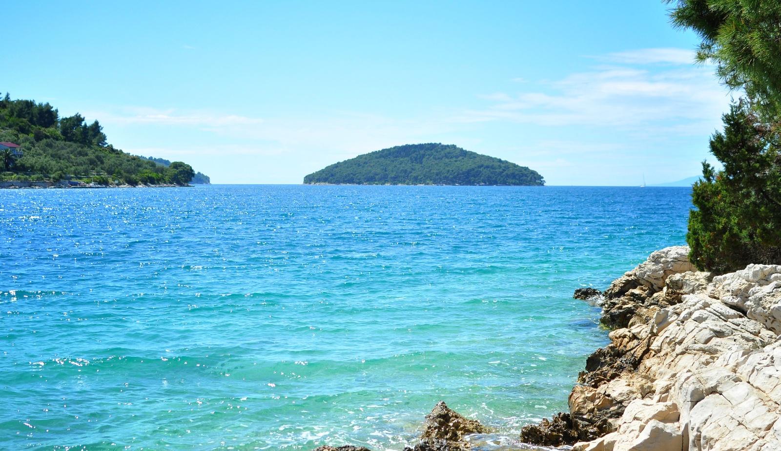 Paysage de Croatie, à Korcula Korčula