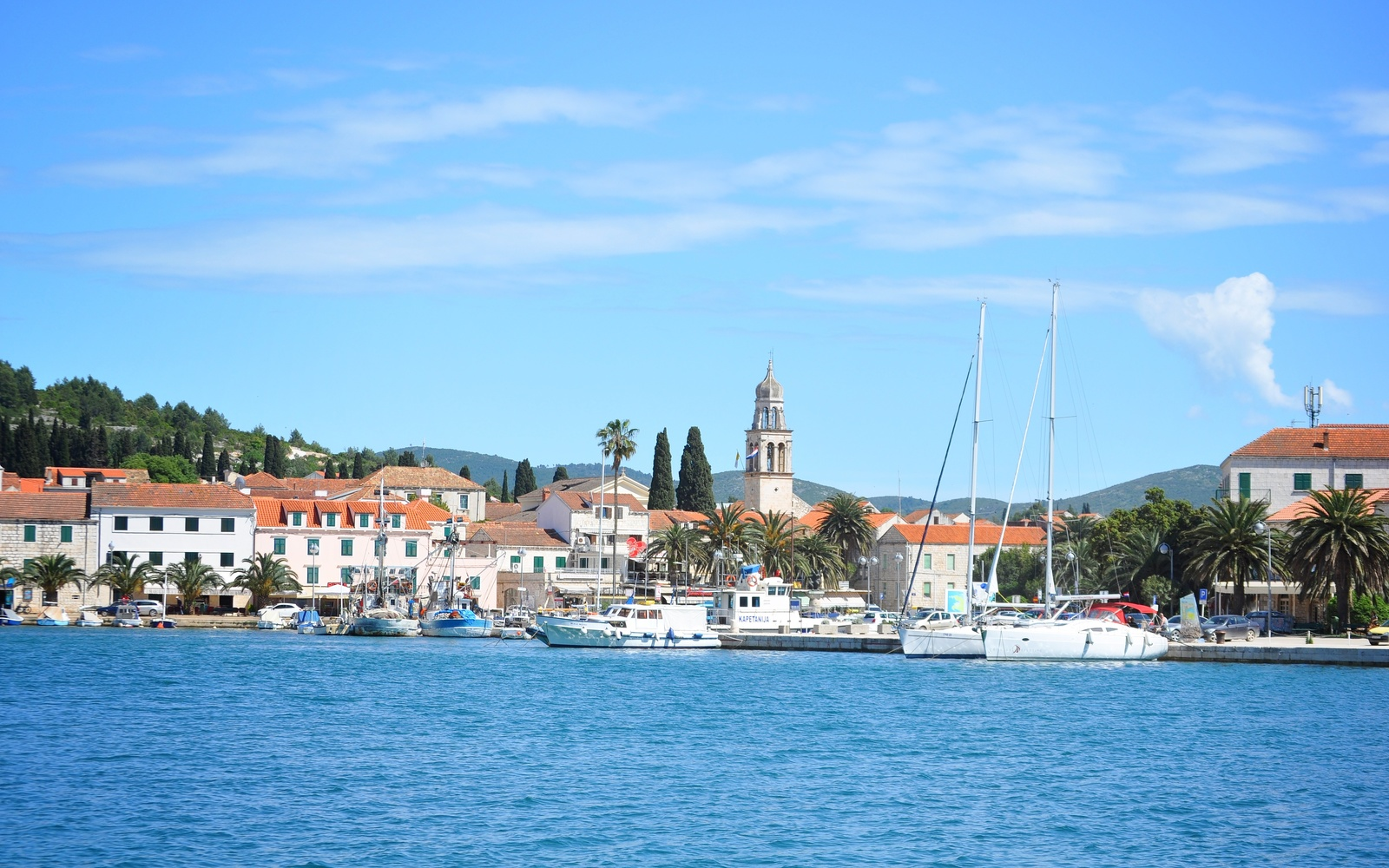Vela Luka vue du port Korčula
