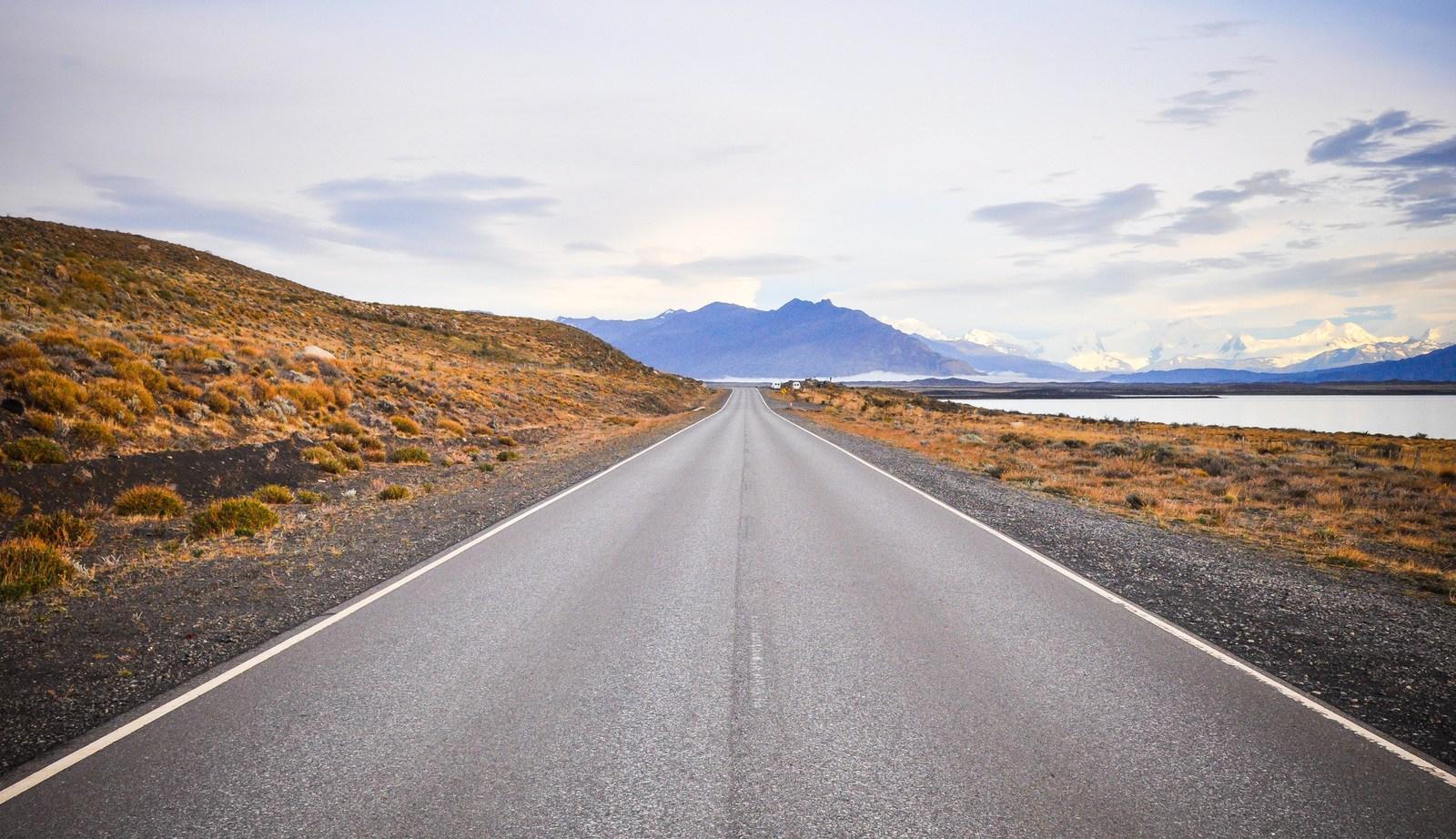 route pour aller au glacier Perito Moreno El Calafate