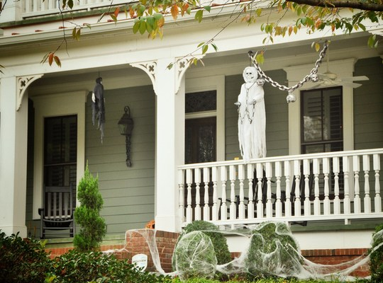 Citrouilles halloween etats unis houston aux etats unis - Maison decoree halloween ...
