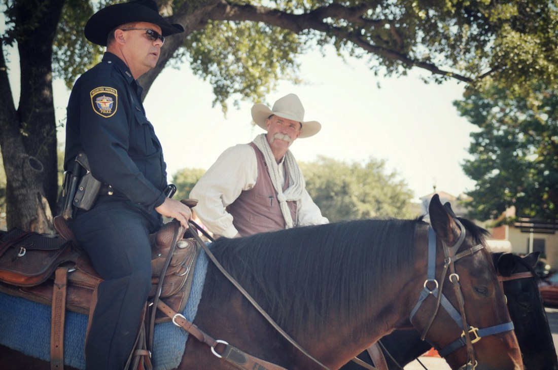 Policiers à cheval Fort Worth