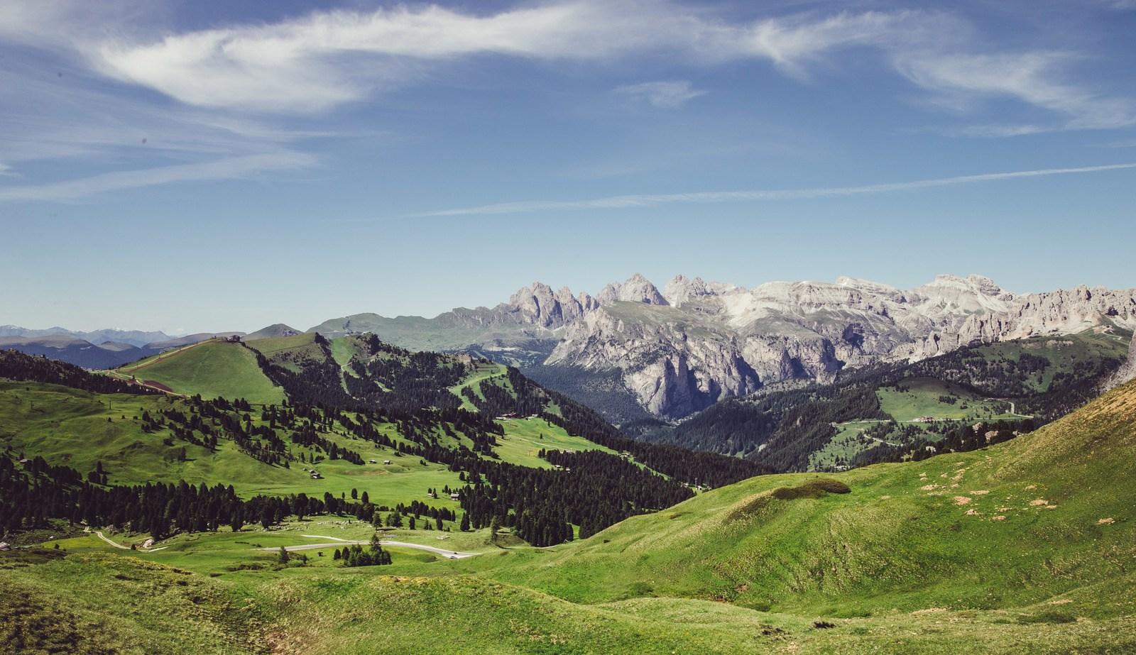 Panorama, Passo Sella Dolomites