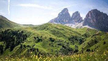 Panorama passo sella en italie