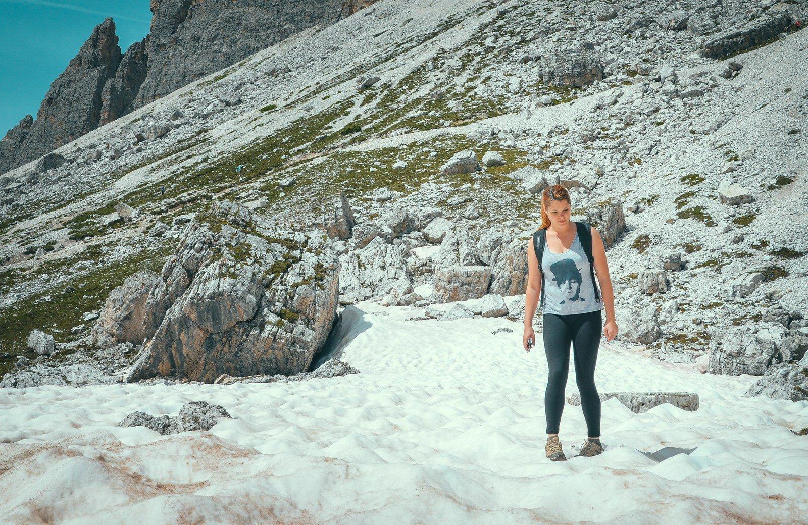 Dans la glace Parco naturale Tre Cime