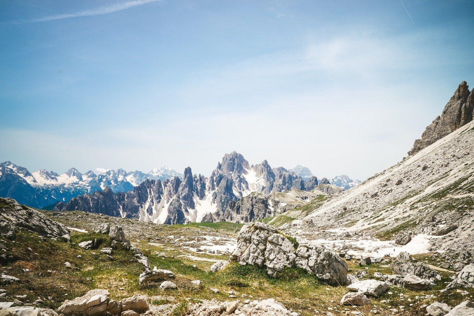 Panorama au pied des Tre Cime Parco naturale Tre Cime
