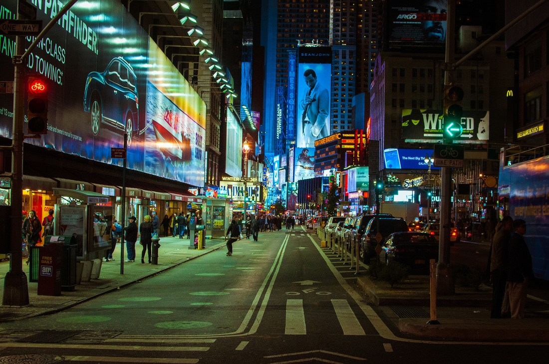 New York by Night (Time Square)