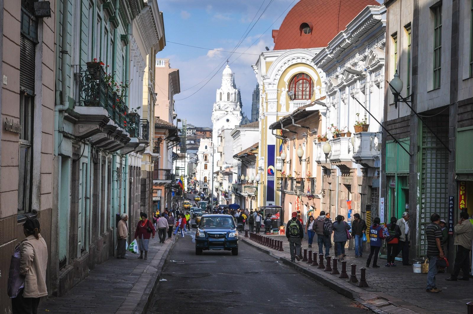 Dans les rues de Quito Quito