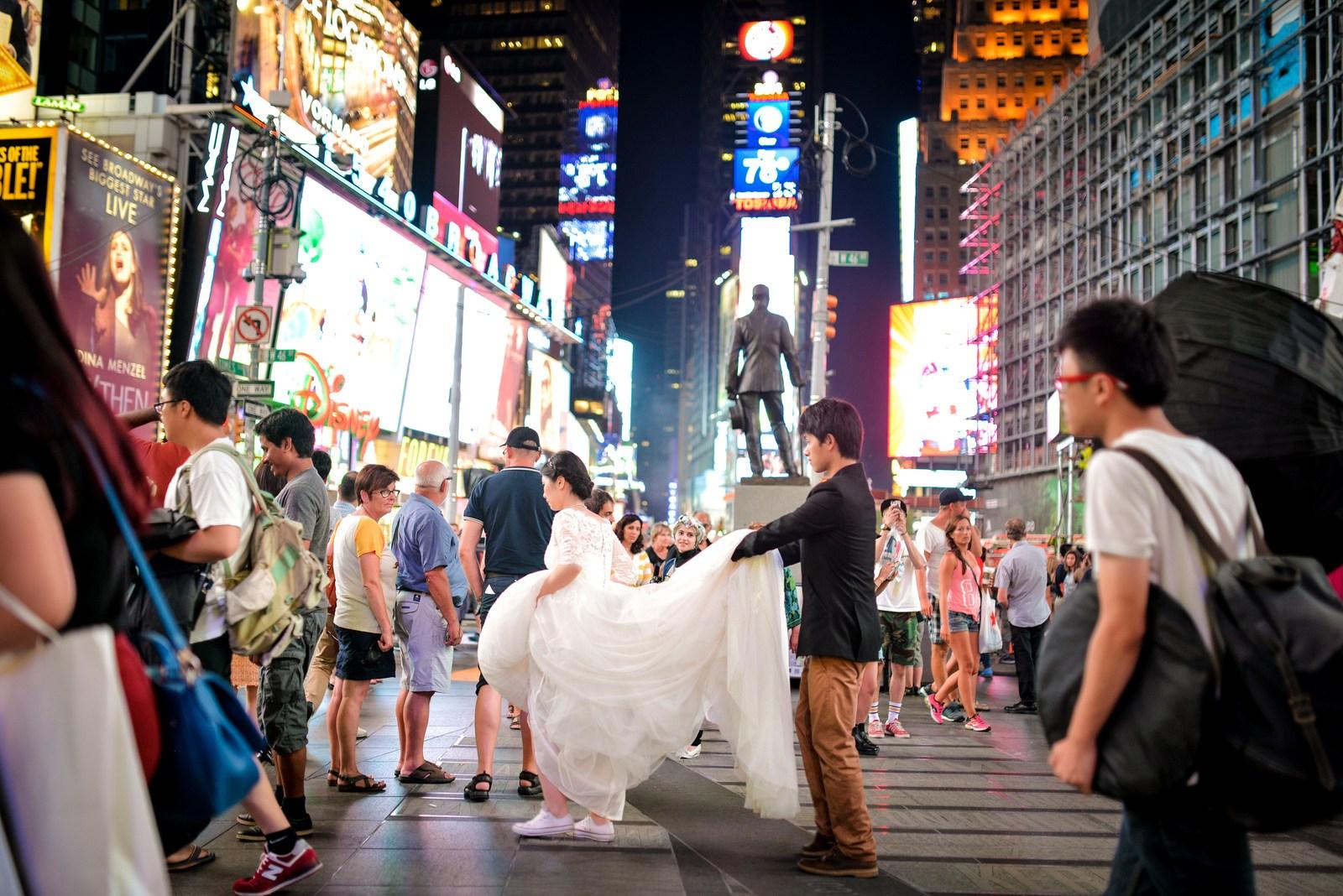 Mariage à Times Square Manhattan