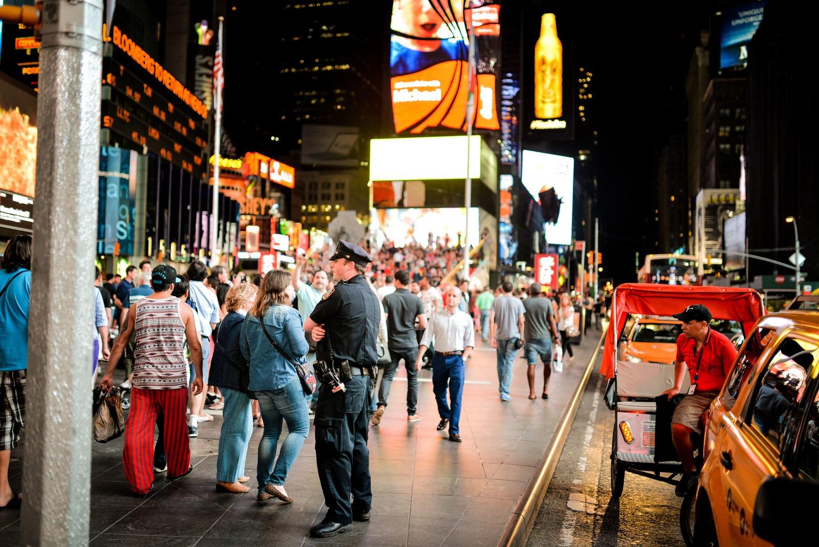 Policeman, Times Square Manhattan