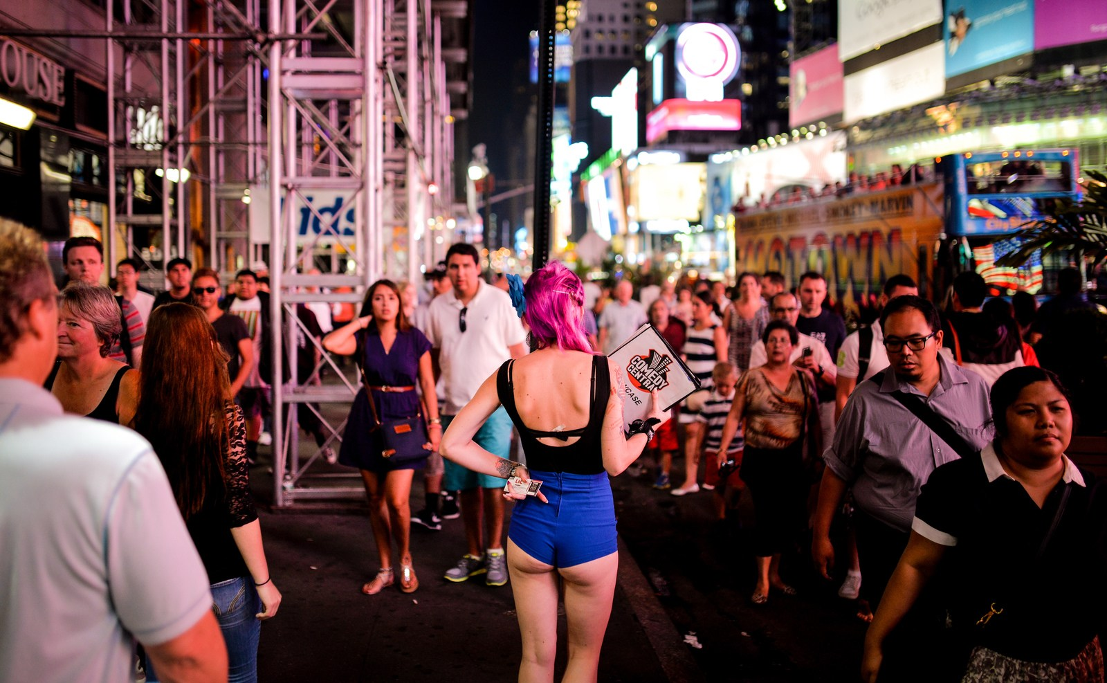 Pinup sur Times Square Manhattan