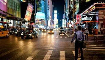 Prendre un taxi a times square