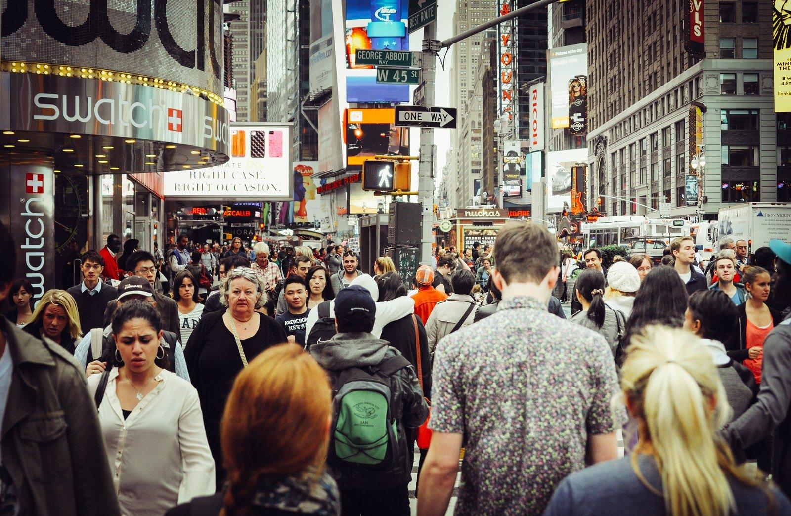 Une journée à Times Square Manhattan