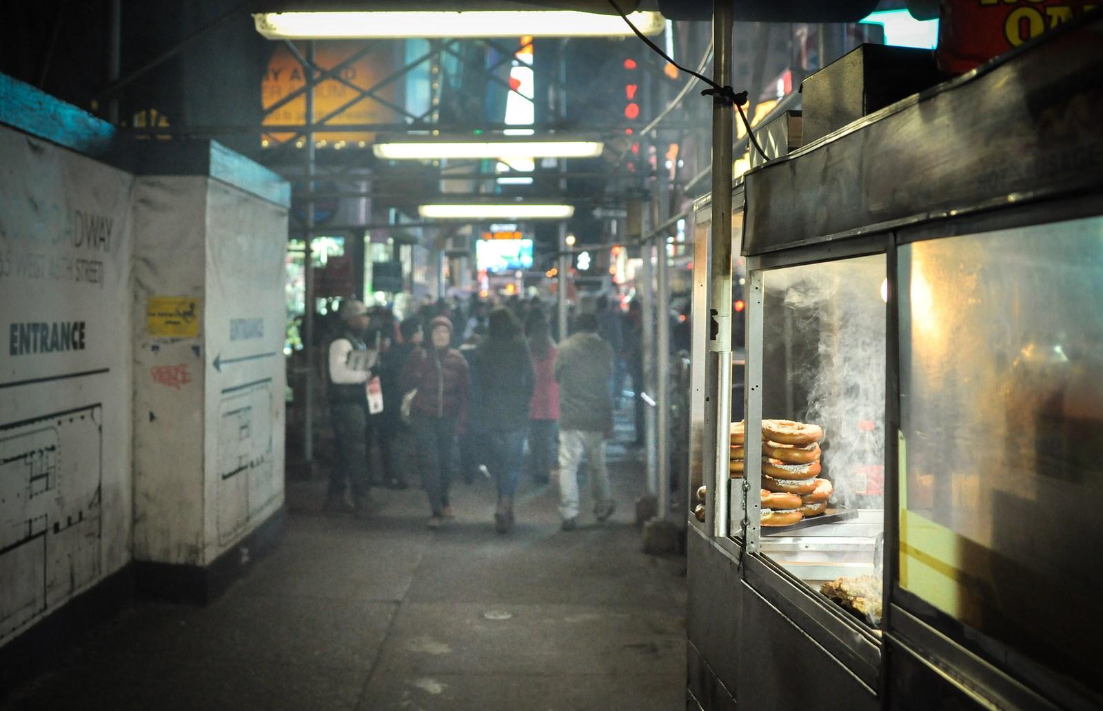 Sous les echaffaudages de New York Manhattan