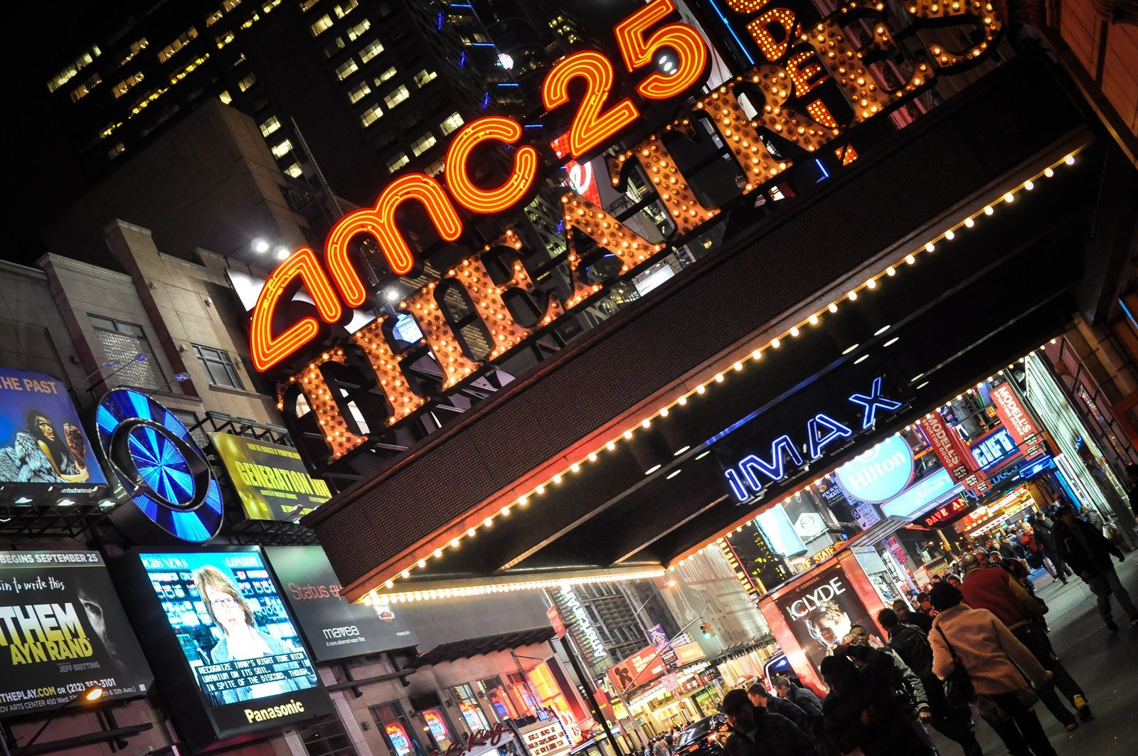 Cinéma sur Times Square Manhattan