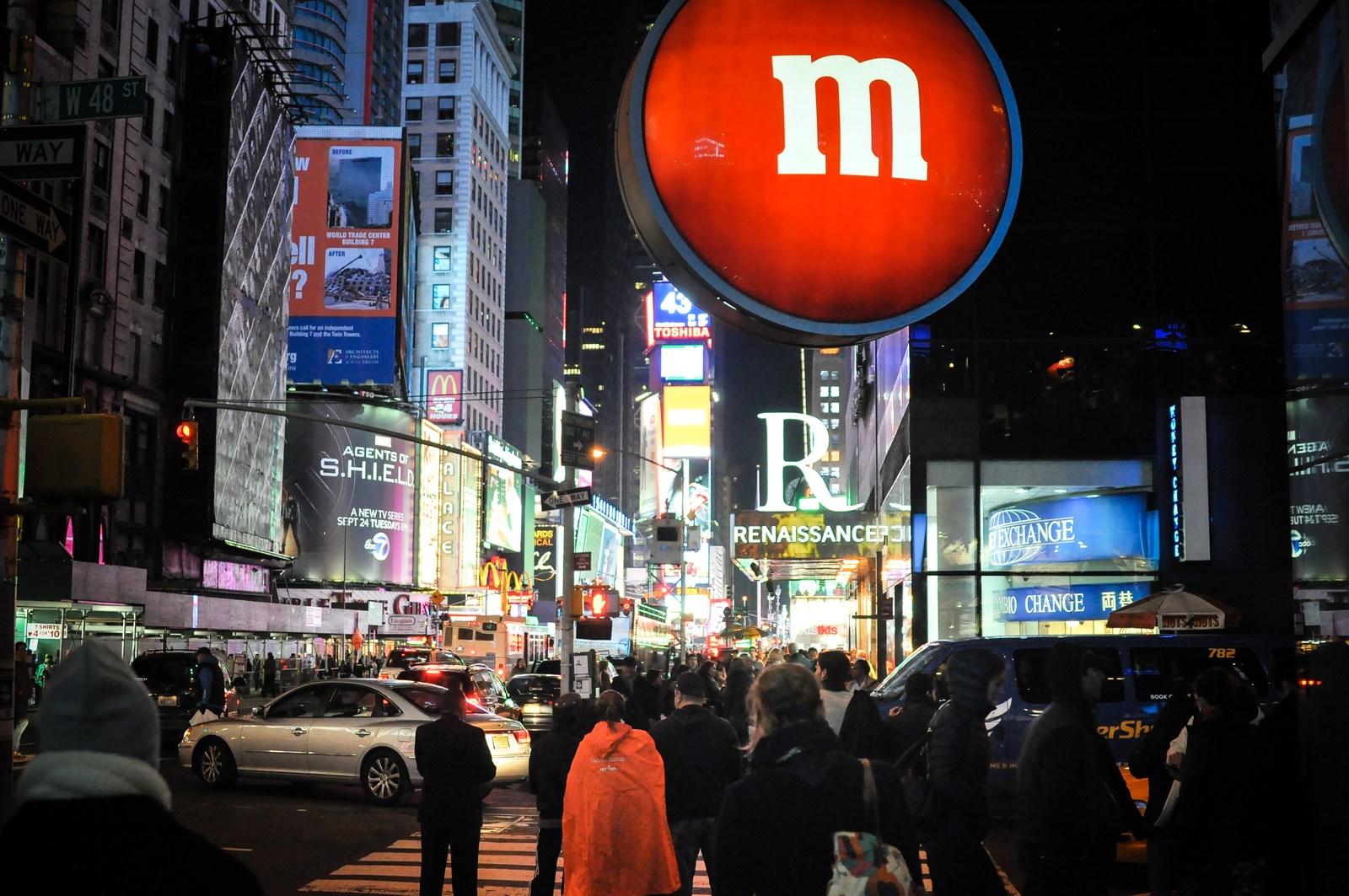 Boutique M&M's sur Times Square Manhattan