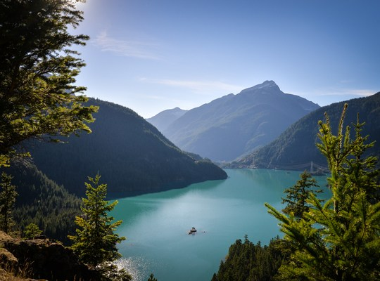 Panoramique sur le Diablo Lake