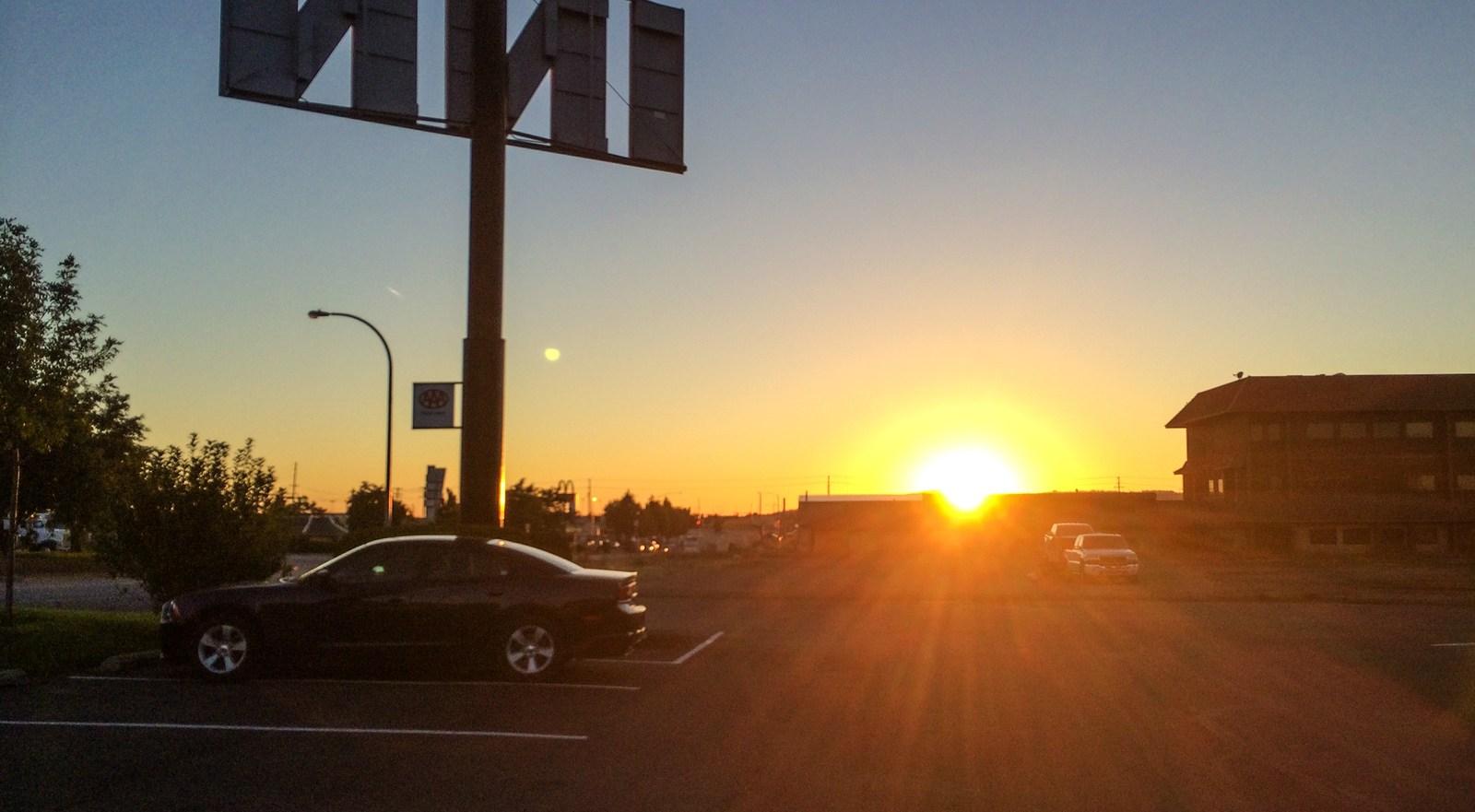 En arrivant à Post Falls (Idaho) Sur les routes