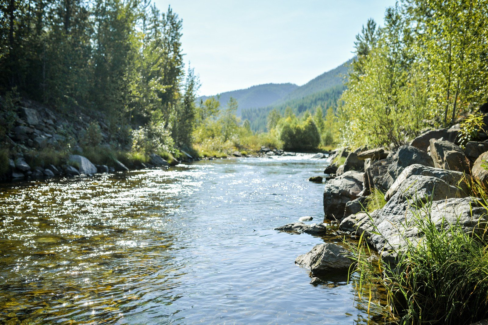 Coeur d'Alene River, Idaho Sur les routes