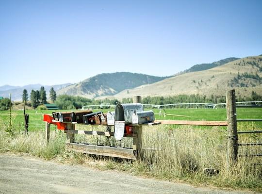 Jolies boites aux lettres sur la methow valley highway