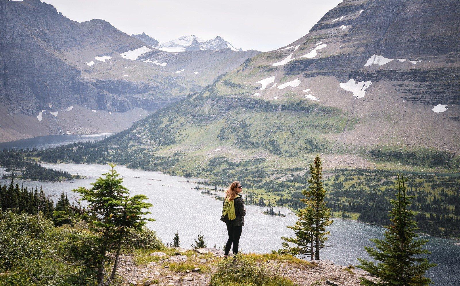 Glacier national park hidden lake trail for Le paysage