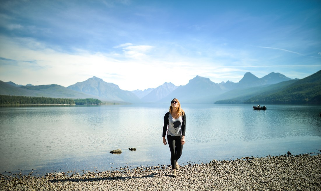 Sur les rives du Lake McDonald