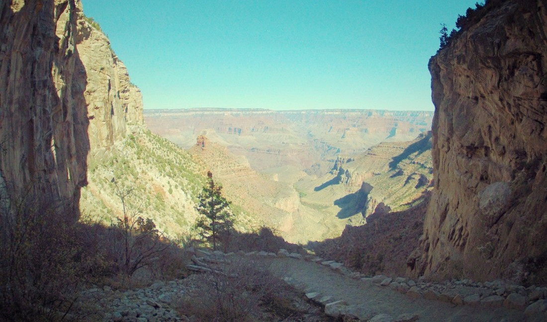 Sur la route au Grand canyon