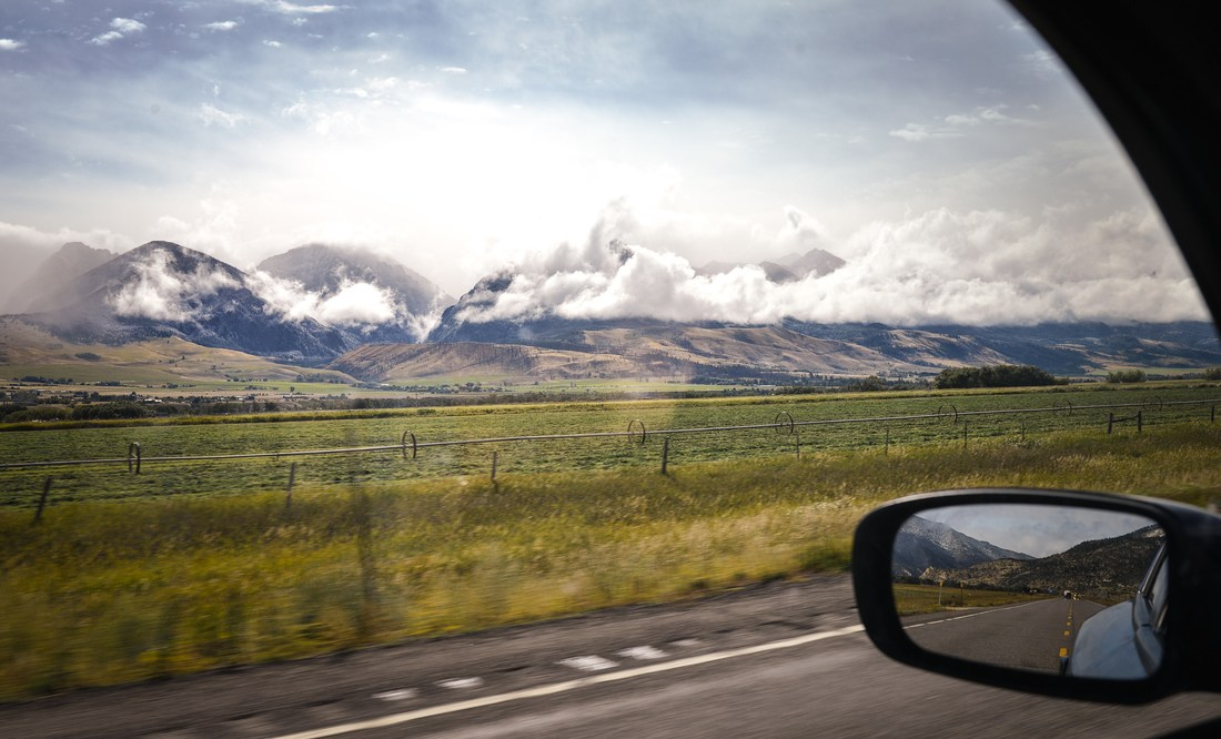 Sur la route de Yellowstone