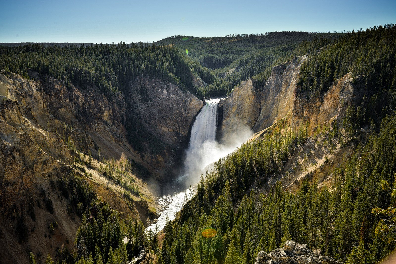Vue sur Upper Falls Yellowstone