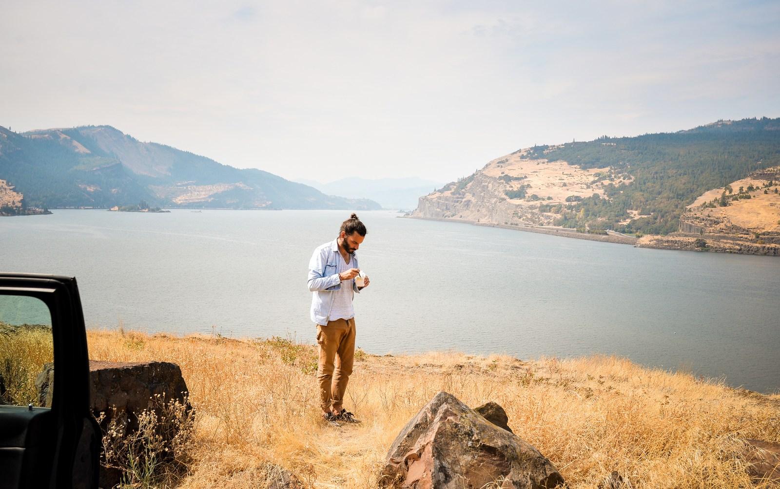 Pause déjeuner sur l'Historic 30 Columbia River Gorge