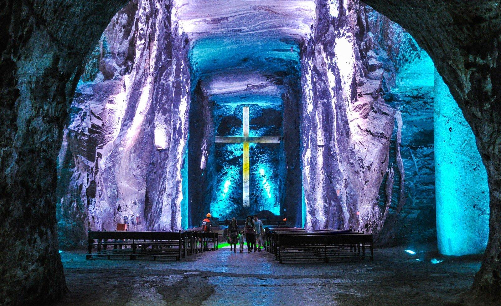 Visite de sel la Cathédrale de Zipaquirá Colombie Zipaquira