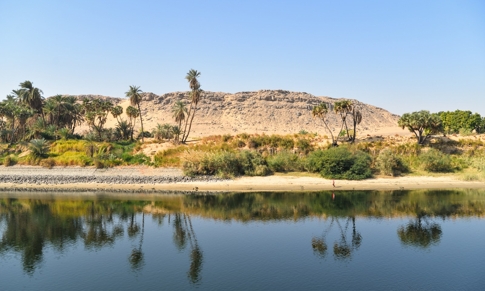 Paysage plus d sertique le nil en egypte for Le paysage