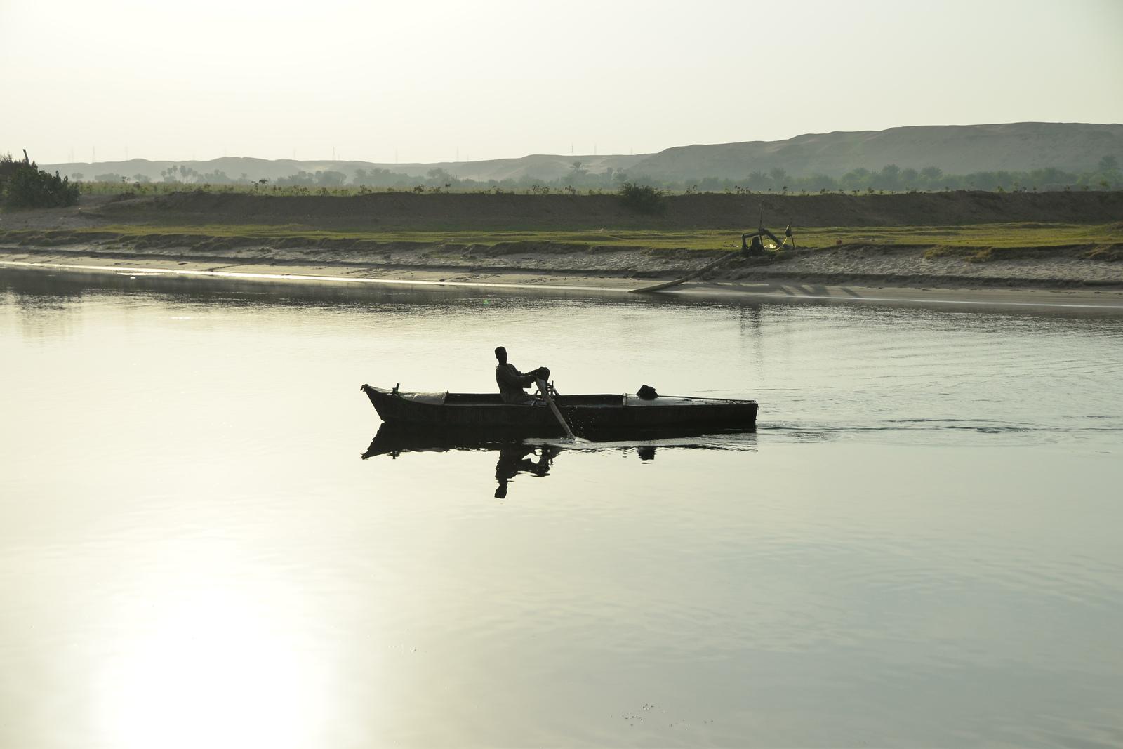 Pêcheur sur le Nil Le Nil