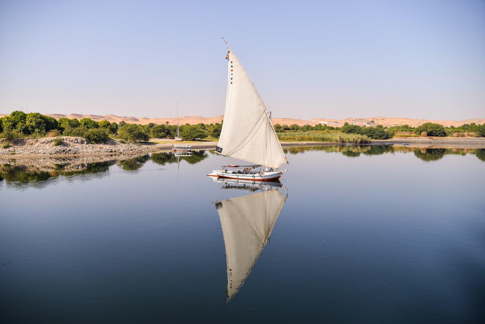 Felouque sur le Nil Le Nil