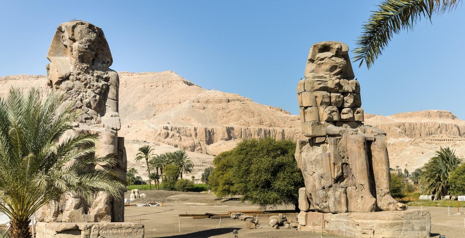 Colosses de Memnon Medinet Habu